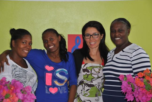 Nina, Alba, Marta och Aracelis